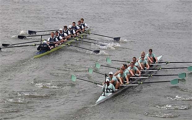 Oxford vs Cambrdige veslařské závody v Londýně