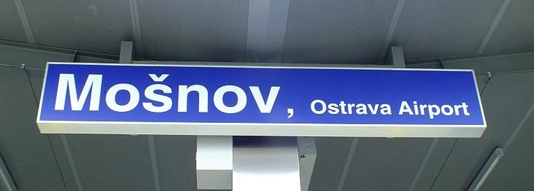 Vlaková stanic Mošnov, Ostrava airport